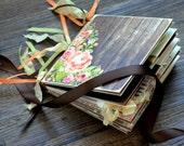 Country Chic Wedding Photo Album Memory Book Wedding Albums Keepsake Made To Order
