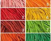 "10 Suede Necklaces  16-18"" Length, Pick Your Colors."