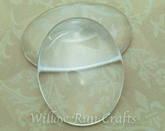 20 Pack 30 x 40mm Oval Glass Cabochons  (09-11-750)