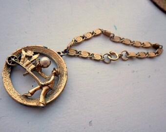 Flower Cart Gold Bracelet 3D - Charm Bracelet - Genuine Pearl