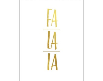 Fa La La - Holiday Foil Notebook