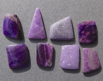 8 Purple Sugilite Cabochons ( 18 Cts Total )