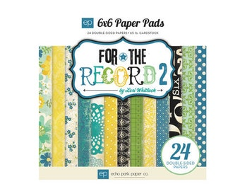 Echo Park 6x6 Paper Pad - For the Record 2