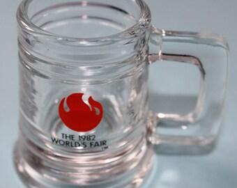 Vintage Shot Glass, 1982 World's Fair Souvenir