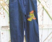 Vintage 90s Disney Donald Duck hip hop style jeans from Gilmar L XL
