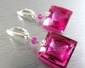 BIGGEST SALE EVER Pink Topaz and Sterling Silver Lever Back Earrings