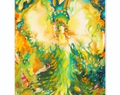 Angel of Gratitude - beautiful Fine Art limited edition (giclee) print of my original painting