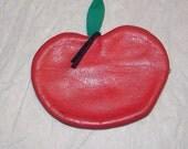 Sweet Little Leather Apple Change Purse