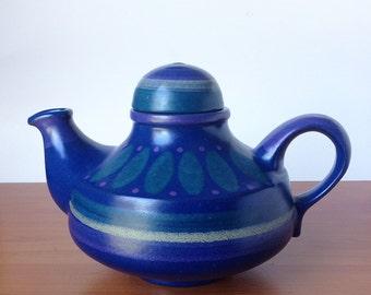 Vintage West German Pottery Tea Pot by KMK  Manuell- Keramik