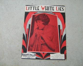 1930  vintage sheet music (  Little White Lies   )