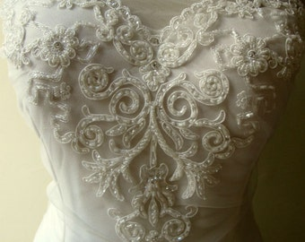 Beaded Ivory Applique for Sweetheart Neckline Strapless Bridal Dresses Wedding Gown