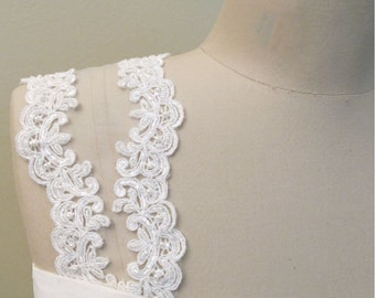 Detachable Lace Straps Wedding Gown Cap Sleeves Ivory