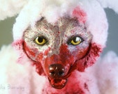 Sheep Are Dumb - OOAK Wolf in Sheep's Clothing Horror Art Doll