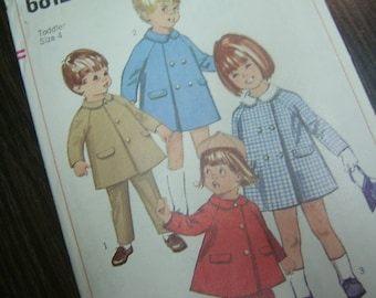 1966 Toddler Coat and Slacks - Simplicity 6812