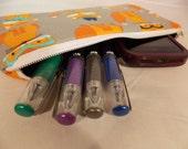 Pencil Pouch, Fox Makeup Bag, Fox Gadget Case, Fox Medicine Bag, Fox with Glasses