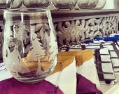 Winter Trees Etched Glassware (Small) -Shots -Juice Glasses -Red Wine Glasses -White Wine Glasses (Stemless)