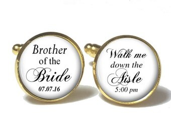 Brother of the Bride Cufflinks, Wedding Cufflinks, Style 658