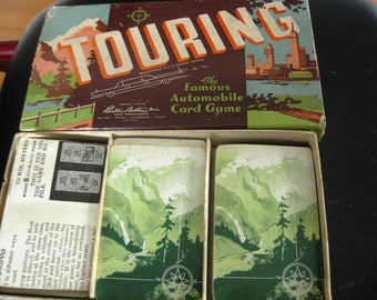 Vintage Touring Card Game 1957, Complete With 99 Cards and Instructions, Great Display Piece