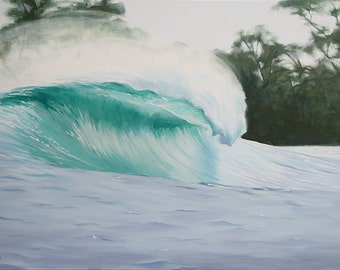 GICLEE Fine Art Reproduction by Daina Scarola on fine art paper - Dominical Wave (Costa Rica, surf art)