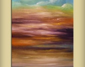 sand textured art abstract Original painting art abstract painting original acrylic painting cloud tree sunset 22 x 28 Mattsart