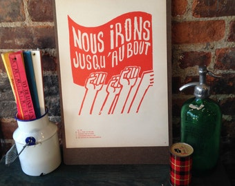 Atelier Populaire Poster Print: We'll Fight To The End