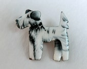Art Deco era Enamel Scottie Dog Brooch Made in Czechoslovakia Scotty Pin
