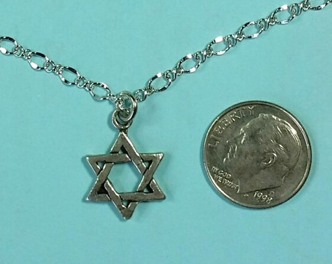 Sterling Star of David on Delicate Chain