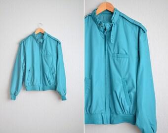 vintage men's '80s wintermint MEMBERS ONLY classic RACER jacket. size m.
