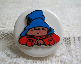 Paddington Bear Plastic Sewing Button
