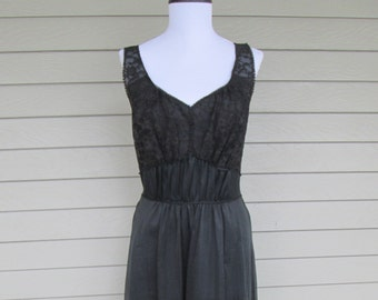 Artemis Black Chiffon Nightgown