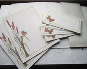 Vintage Stationery with Envelopes * 1970's Butterflies * Current Inc Stationery * Cattails and Nature *