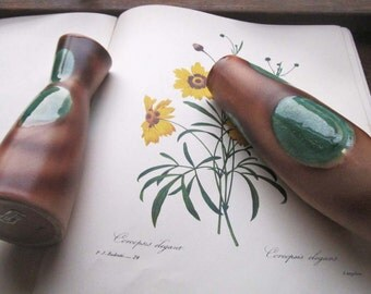 Vintage Pair Norcrest Vases * Artistic * Styled Decor * 1950's 60's Mod Vases * Matching Pair Vases