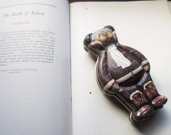 Vintage Bear Tin *  * Bear Gift Tin * Made in England * Pilot Bear * Illustration Tin