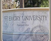 Emory University Wall, Atlanta Landmark Marble Stone Coaster,Mix and Match With My Other Coasters To Make A Set..