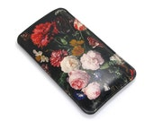 Leather iPhone 6s Case, iPhone 6 Case, iPhone 5s Case, Galaxy S6 Case  - Floral Bliss