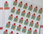 Huge Sale Planner Stickers 30 Library Books Due Life Planner Stickers
