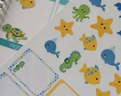 SALE Planner Stickers Sea Creatures Set Life Planner Stickers