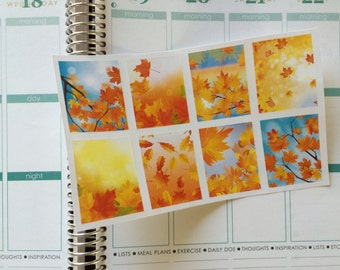 Planner Stickers 8 Fall Full Box Stickers Fall Stickers Perfect For Your Erin Condren Planner