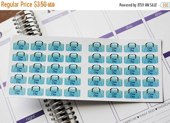 SALE Planner Stickers 40 Gym Bags Day Planner Stickers Life Planner Stickers