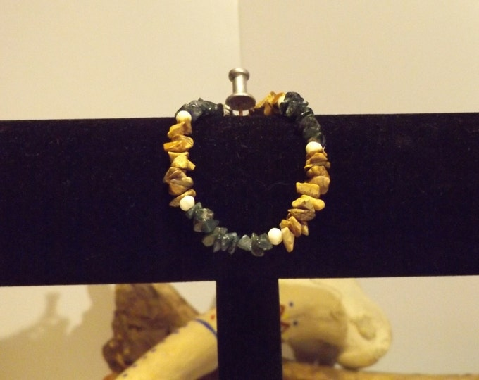 Green Aventurine, Picture Jasper Healing Bracelet, Healing Crystal and Gemstone Jewelry, Healing Jewelry, Healing Crystal andf Stones