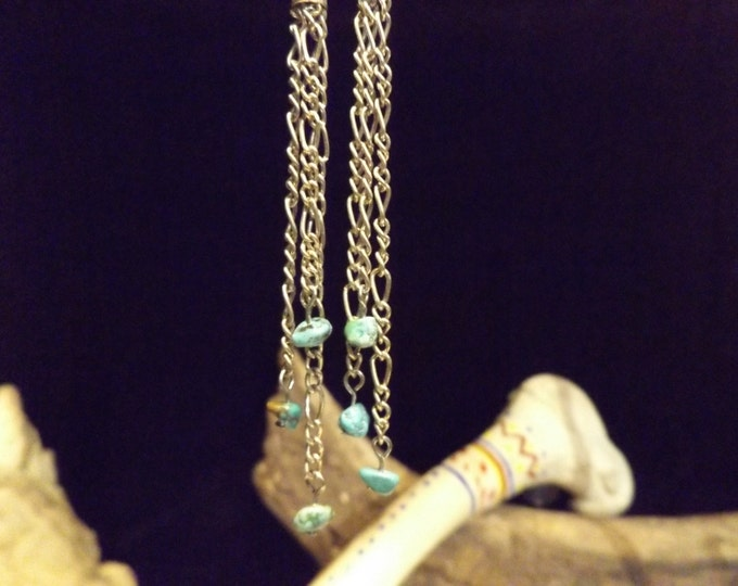 Dangling Turquoise Healing Earrings, Healing Crystal and Gemstone Jewelry, Healing Jewelry, Healing Crystal and Stones, Spiritual Healing