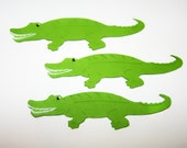 Alligator, Gator, Green, Reptile, Swamp, Lator Gator, Paper Piecings, Card Making, Party Decor, Classroom Decor, Favor Tags, Card Toppers