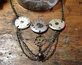 Trio of Vintage Watches Steampunk Necklace