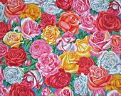 COUPON Code Sale - Botanical, Rose Bud, Blue, Snow Leopard Designs, Rowan Westminster, 100% Cotton Quilt Fabric, Quilting, SELECT A SIZE