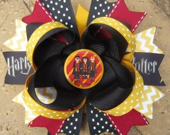 Harry Potter inspired Custom Boutique Hair Bow for Birthday Party