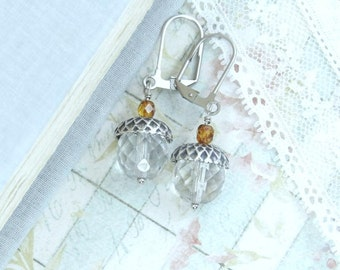 Acorn Earrings Forest Jewelry Autumn Earrings Acorn Jewelry Fall Earrings Autumn Jewelry Nature Earrings
