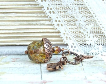 Acorn Necklace Forest Jewelry Fall Necklace Woodland Jewelry Acorn Pendant Acorn Jewelry Autumn Necklace