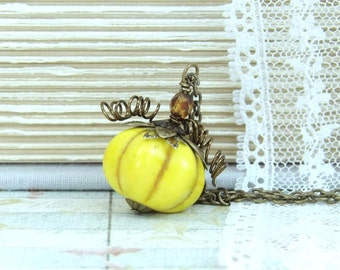 Pumpkin Necklace Thanksgiving Jewelry halloween Necklace Pumpkin Jewelry Fall Necklace Autumn Jewelry