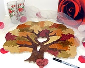 Wedding Tree Guest Book Puzzle  Custom Painted- 20-150  Pieces Guest Book Alternative