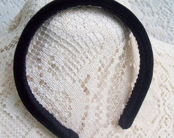 traditional headband velvet black
